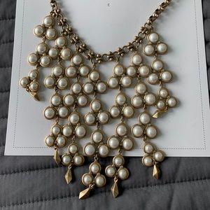 "Stella and Dot ""Dahlia"" pearl bib necklace"